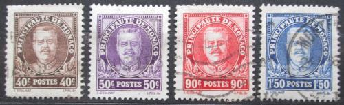 Poštovní známky Monako 1933 Kníže Louis II. Mi# 116-19 Kat 20€