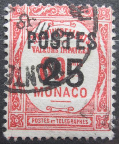 Poštovní známka Monako 1937 Doplatní pøetisk Mi# 153
