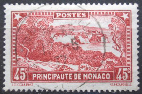 Poštovní známka Monako 1933 Pohled na mìsto Mi# 124 a