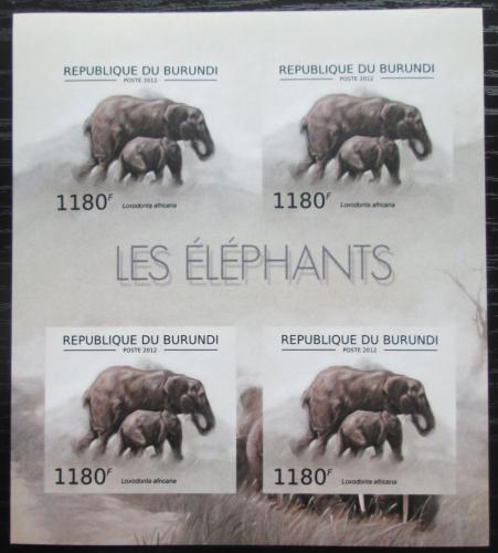 Poštovní známky Burundi 2012 Slon africký neperf. Mi# 2833 B Bogen