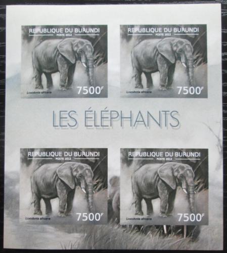 Poštovní známky Burundi 2012 Slon africký neperf. Mi# 2837 B Bogen