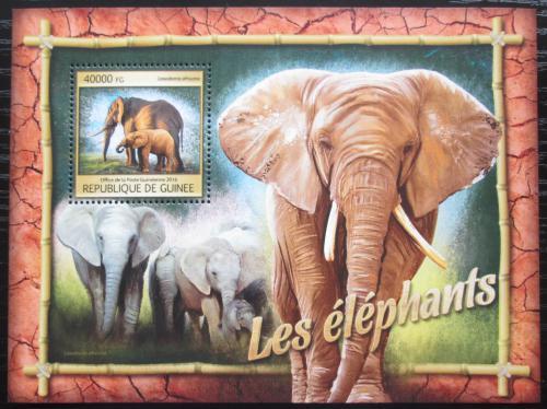 Poštovní známka Guinea 2016 Sloni Mi# Block 2666 Kat 16€