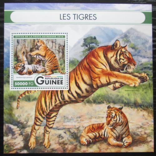 Poštovní známka Guinea 2016 Tygøi Mi# Block 2708 Kat 20€