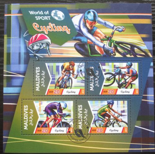 Poštovní známky Maledivy 2015 Cyklistika Mi# 5780-83 Bogen Kat 10€