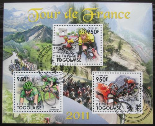 Poštovní známky Togo 2011 Tour de France, cyklistika Mi# 4305-07 Bogen Kat 11€