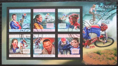 Poštovní známky Guinea 2012 Slavní cyklisti Mi# 9615-20 Bogen Kat 18€