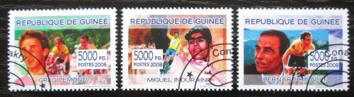 Poštovní známky Guinea 2012 Slavní cyklisti Mi# 5426-28 Kat 6€