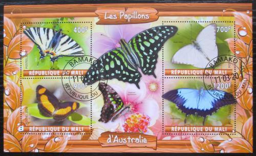 Poštovní známky Mali 2020 Australští motýli Mi# N/N