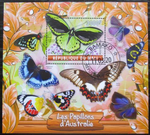 Poštovní známka Mali 2020 Australští motýli Mi# N/N