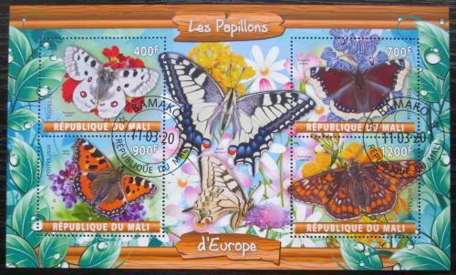 Poštovní známky Mali 2020 Evropští motýli Mi# N/N