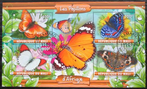 Poštovní známky Mali 2020 Afriètí motýli Mi# N/N