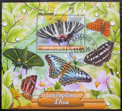 Poštovní známka Mali 2020 Asijští motýli Mi# N/N