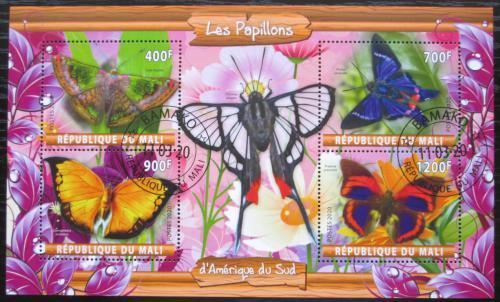 Poštovní známky Mali 2020 Jihoameriètí motýli Mi# N/N