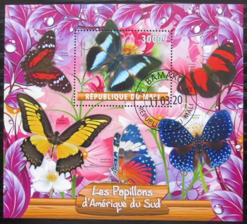 Poštovní známka Mali 2020 Jihoameriètí motýli Mi# N/N