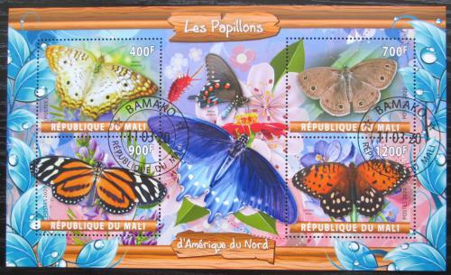 Poštovní známky Mali 2020 Severoameriètí motýli Mi# N/N