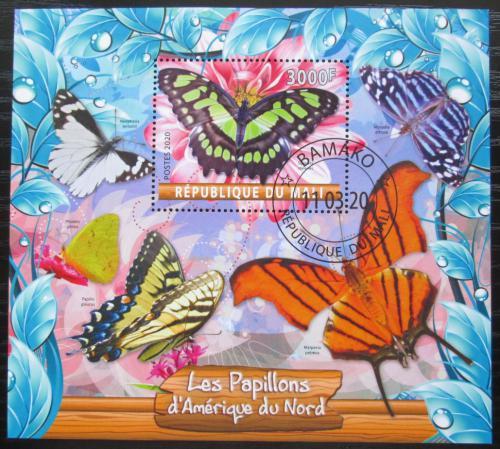 Poštovní známka Mali 2020 Severoameriètí motýli Mi# N/N