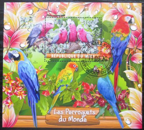 Poštovní známka Mali 2020 Papoušci Mi# N/N