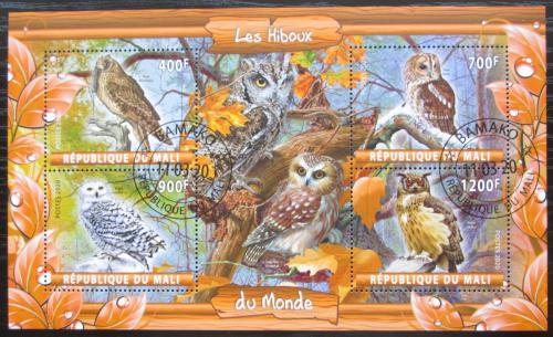 Poštovní známky Mali 2020 Sovy Mi# N/N
