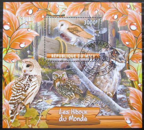 Poštovní známka Mali 2020 Sovy Mi# N/N