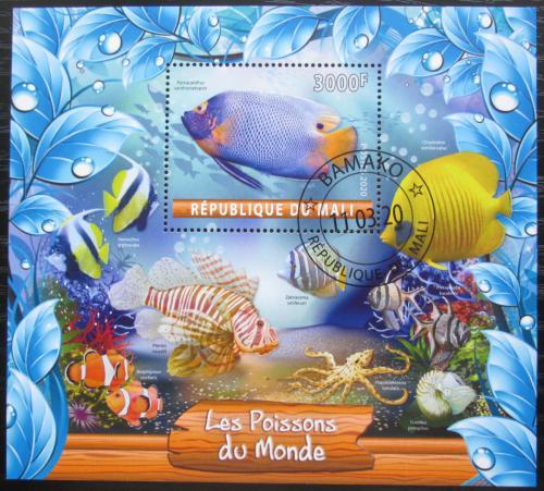 Poštovní známka Mali 2020 Ryby Mi# N/N