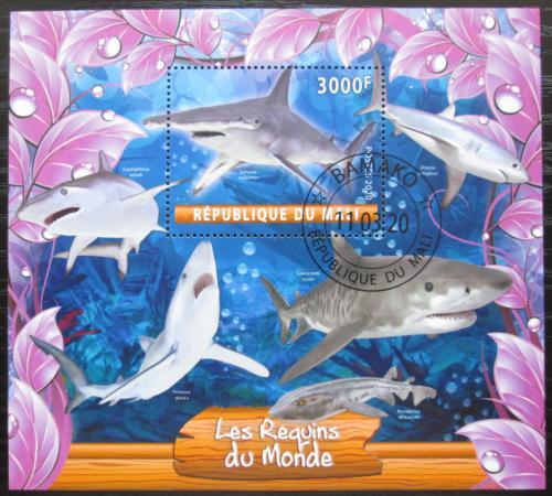 Poštovní známka Mali 2020 Žraloci Mi# N/N