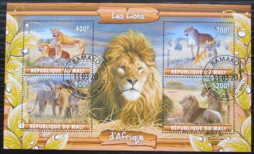 Poštovní známky Mali 2020 Lvi Mi# N/N