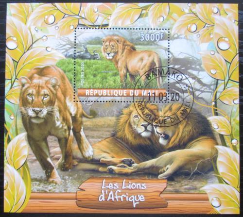 Poštovní známka Mali 2020 Lvi Mi# N/N