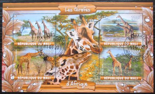 Poštovní známky Mali 2020 Žirafy Mi# N/N