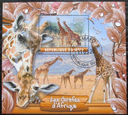 Poštovní známka Mali 2020 Žirafy Mi# N/N