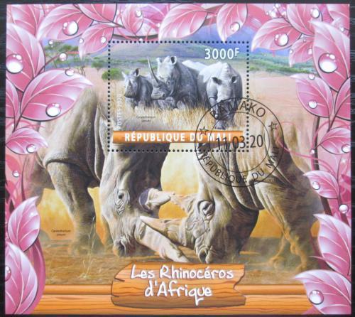 Poštovní známka Mali 2020 Nosorožci Mi# N/N
