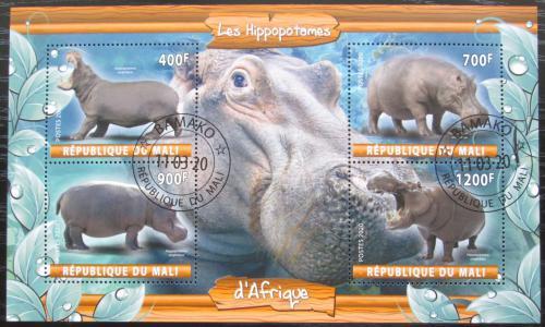 Poštovní známky Mali 2020 Hroši Mi# N/N