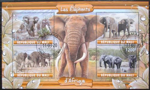 Poštovní známky Mali 2020 Sloni Mi# N/N