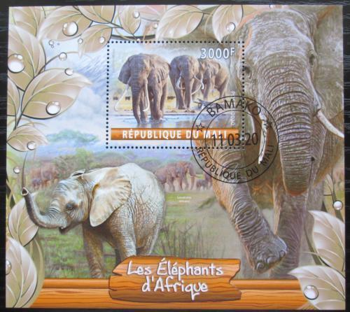 Poštovní známka Mali 2020 Sloni Mi# N/N