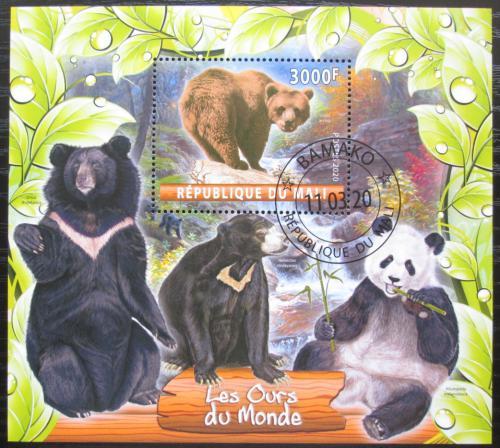 Poštovní známka Mali 2020 Medvìdi Mi# N/N