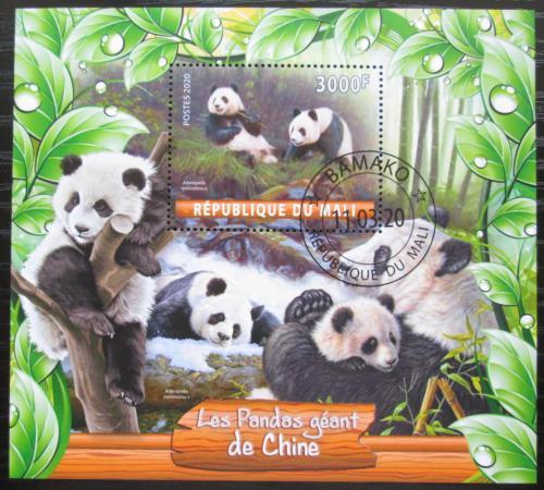 Poštovní známka Mali 2020 Pandy Mi# N/N