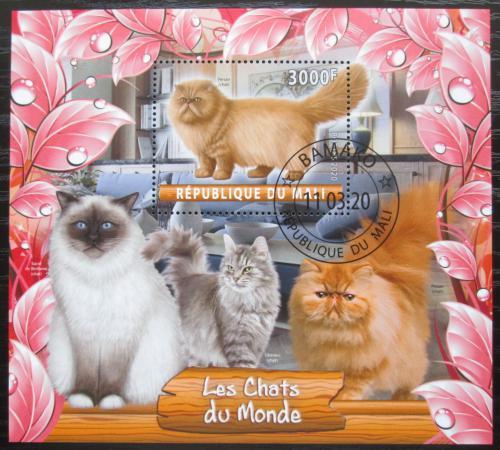 Poštovní známka Mali 2020 Koèky Mi# N/N