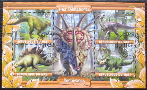 Poštovní známky Mali 2020 Dinosauøi Mi# N/N
