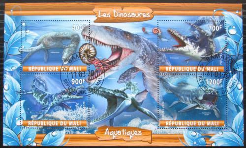 Poštovní známky Mali 2020 Moøští dinosauøi Mi# N/N