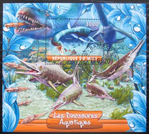 Poštovní známka Mali 2020 Moøští dinosauøi Mi# N/N