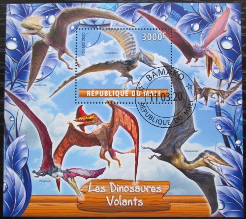 Poštovní známka Mali 2020 Létající dinosauøi Mi# N/N