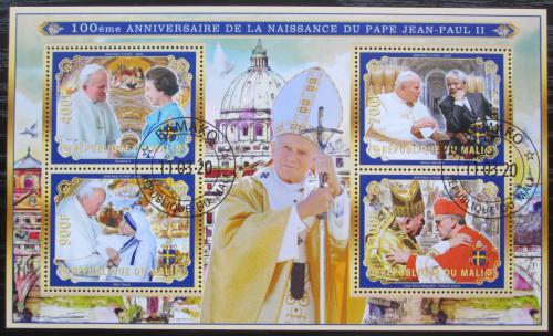 Poštovní známky Mali 2020 Papež Jan Pavel II. Mi# N/N