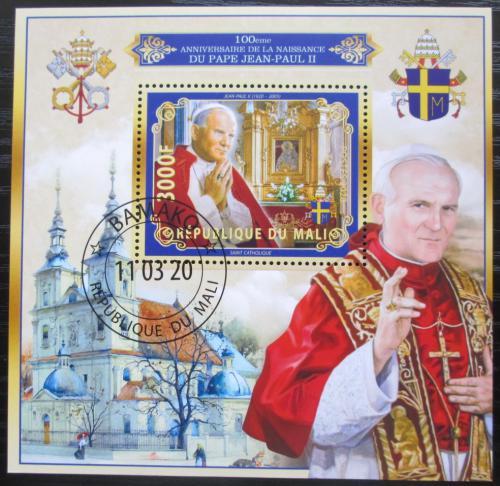Poštovní známka Mali 2020 Papež Jan Pavel II. Mi# N/N