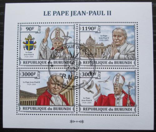 Poštovní známky Burundi 2013 Papež Jan Pavel II. Mi# 3233-36 Bogen Kat 8.90€