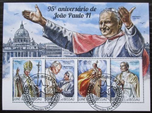 Poštovní známky Guinea-Bissau 2015 Papež Jan Pavel II. Mi# 7678-81 Bogen Kat 12€