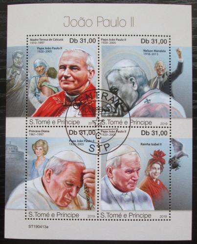 Poštovní známky Svatý Tomáš 2019 Papež Jan Pavel II. Mi# N/N