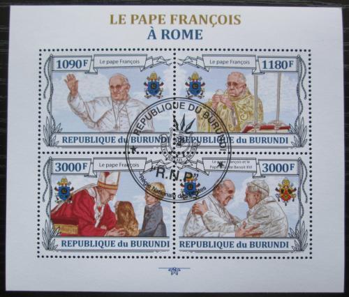 Poštovní známky Burundi 2013 Papež František Mi# 3178-81 Kat 10€