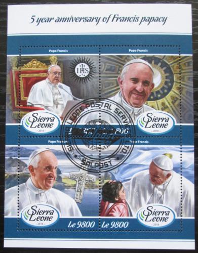 Poštovní známky Sierra Leone 2018 Papež František Mi# 9330-33 Kat 11€