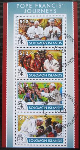Poštovní známky Šalamounovy ostrovy 2015 Papež František Mi# 3277-80 Kat 17€