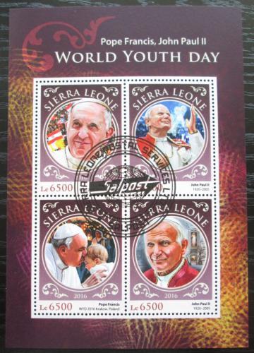 Poštovní známky Sierra Leone 2016 Papeži Mi# 7703-06 Kat 12€