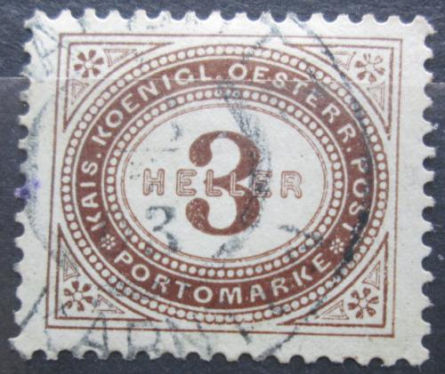 Poštovní známka Rakousko 1900 Doplatní Mi# 24